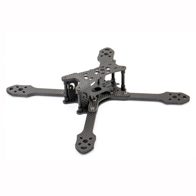 SupRace-215 215mm Wheelbase 4mm Arm Carbon Fiber FPV Racing Drone Frame Kit 88g for RC Racer FPV Quadcopter DIY Spare Parts frog lite fission version frame base rack chassis for rc fpv racing drone quadcopter