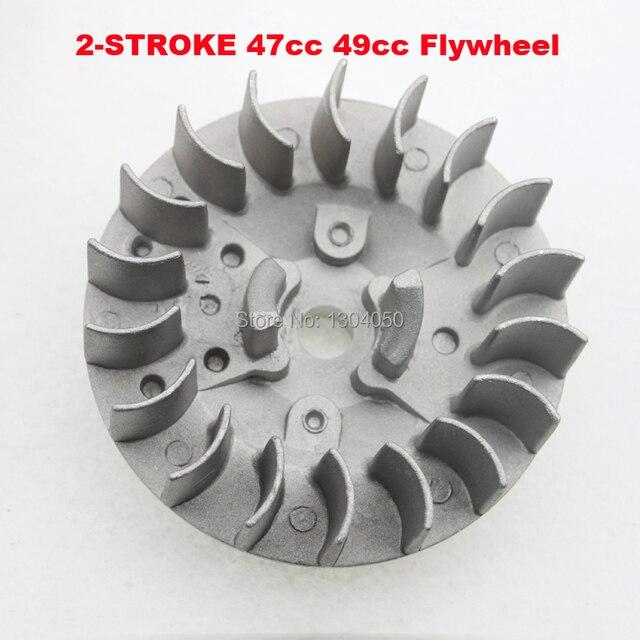2 stroke 47cc 49cc Mini Pocket Dirt Pit Bike Atv Quad 4 Wheel Engine Motor Flywheel Pull Start