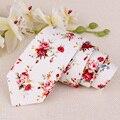 Mantieqingway Algodón Floral Pajarita Corbata de Negocios Traje de Boda 6 CM Corbata Gravata Delgada Floral Corbata Para Los Hombres Corbata Gravata