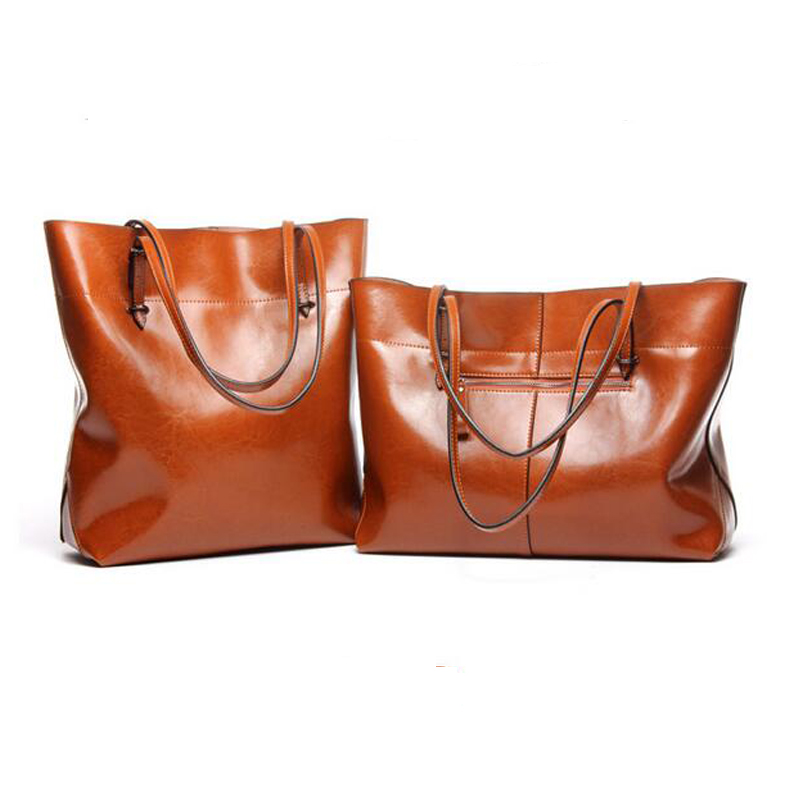 Women Cow Leather Shopping bag high quality ladies casual tote fashion Genuine Leather Mummy bags Commuter OL Shoulder Bag 2017 women handbags ladies leather commuter office tote bag high quality women bag
