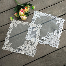 Square 26cm European Lace Embroidered Fabric Mesh Placemat Coffee Tea Cup Mat Vase Pad Dust Cover Cloth Christmas Decoration