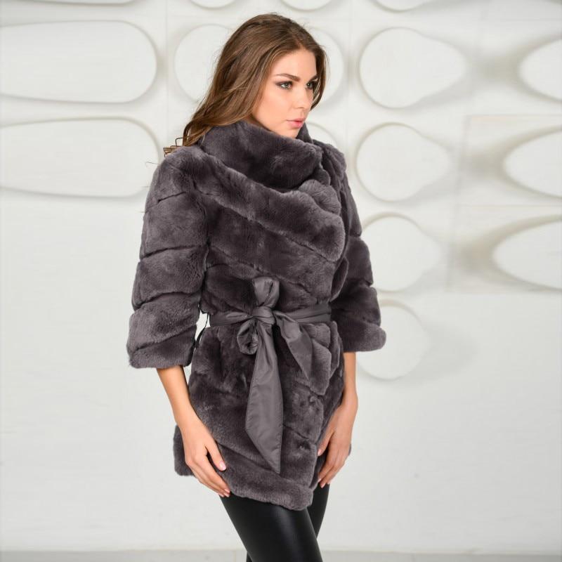 Manteau Rb Véritable Rex Picture Luxe D'hiver Immobilier Ceinture 2018 As Nouveau 003 Fourrure Ensemble Avec Femelle De Lapin Femmes Veste Peau 8wSTfCq