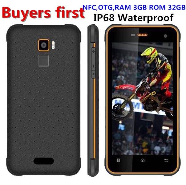 Huadoo hg11 Android 7.0 MT6737 Quad Core 4 г LTE смартфон IP68 противоударный Водонепроницаемый Оперативная память 3 ГБ Встроенная память 32 ГБ NFC OTG 8MP мобильного т…