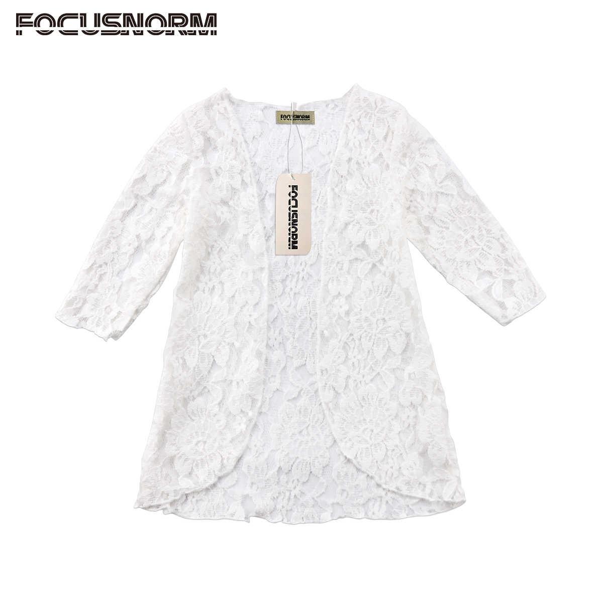 Модная детская одежда детские Обувь для девочек Кружево цветочный крем  Рашгард одежда с длинным рукавом Открыть 7233fbc5874