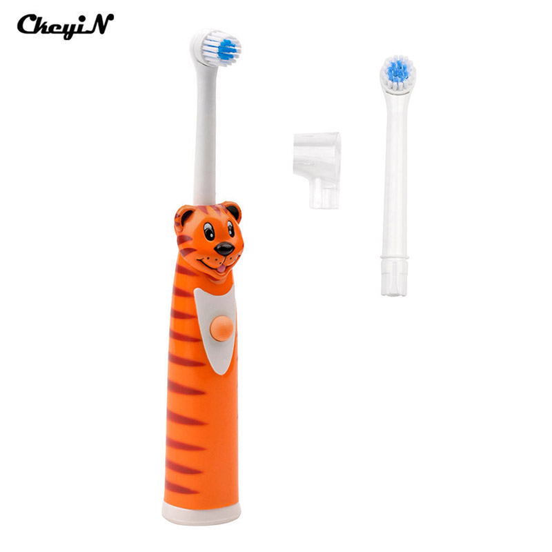 Cartoon Children Tooth Brush Electric Toothbrush for Kids and Adults Electric Massage Rotary Toothbrush Teeth Care Oral Hygiene ultra soft children kids cartoon toothbrush dental health massage 1 replaceable head outdoor travel silicone retractable folding