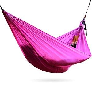 Image 4 - Amaca da campeggio doppia paracadute leggero amache portatili hamock rosso per escursioni viaggi campeggio con amaca cinghie carbina