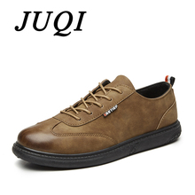 Newest Fashion Mens Brogue Shoes Formal Casual Shoes Spring Autumn Lace Up PU Leather Men's Flats Leisure Sneaker