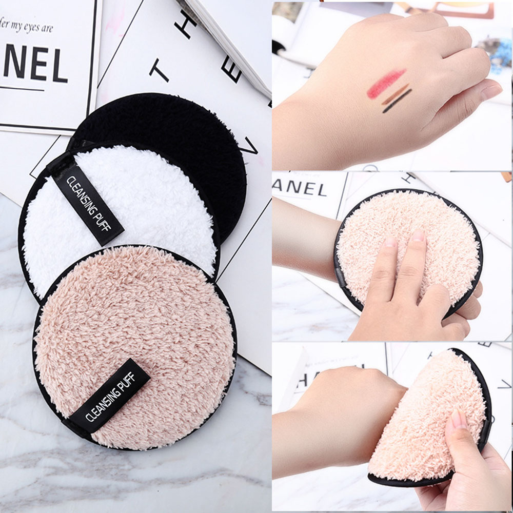 1PC Soft Microfiber Puff Makeup Remover Towel Face Cleaner Plush Reusable Cleansing Cloth Pads Women Beauty Health Makeup Tools