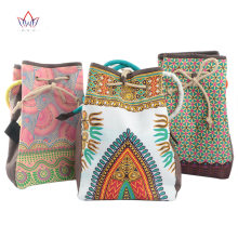 New arrivel African printed wax fabric bag pure handmade bags fashion colorful africa handbags WYB14