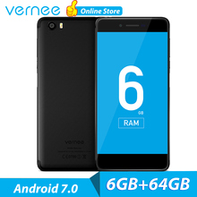 vernee Mars Pro 6GB 64GB Mobile Phone 4G LTE Android 7.0 Phone 5.5 inch FHD Smartphone 2.5GHz Octa Core Fast Charger Cellphone