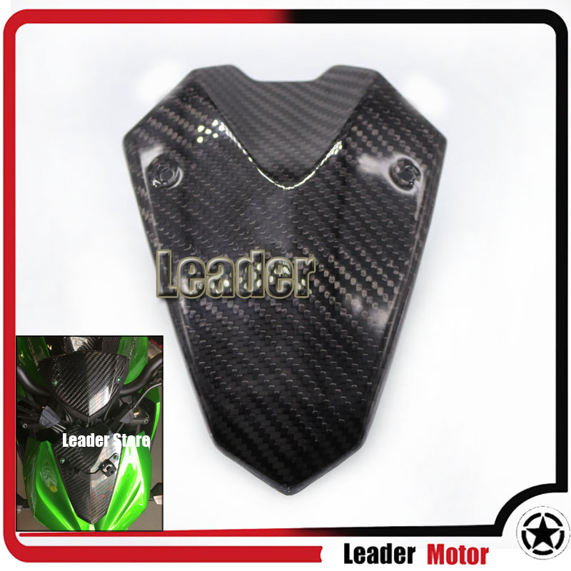 ФОТО For KAWASAKI Z1000 2014-2015 Motorcycle Accessories Carbon Fiber Headlight Fairing Cover