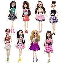 цены на Handmade New Baby Doll Clothes Fashion Princess Girl Doll Dress Evening Party Ball Gown Dress for 29cm 11inch Barbies Doll Suits  в интернет-магазинах