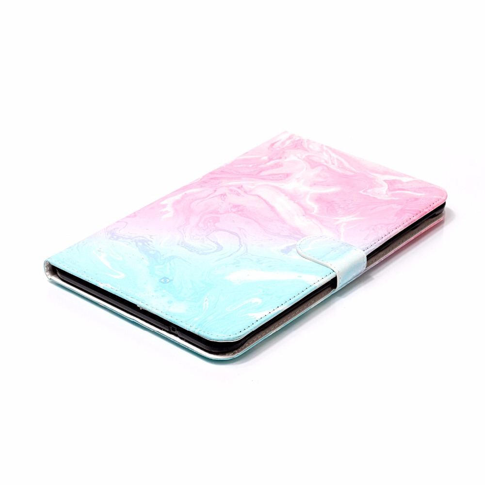 For Samsung Galaxy Tab E 9.6 T560 T561 SM-T560 Case Fashion Marble Pattern Folio PU Leather With Card Slot Protector Back Cover