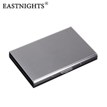 EASTNIGHTS 2016 new arrival High-Grade stainless steel men credit card holder women metal bank case box TW2703