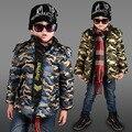 Atacado 2016 Inverno Casacos & Coats Para Meninos camuflagem Moda Casual Com Capuz Outwear Parka Quente Roupas Unissex Roupas