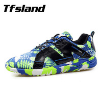 Tfsland New Men Soft Printing Mesh Net Surface Breathable Sneakers Male Sports Flats Tennis Shoes Zapatillas Hombre Chaussures