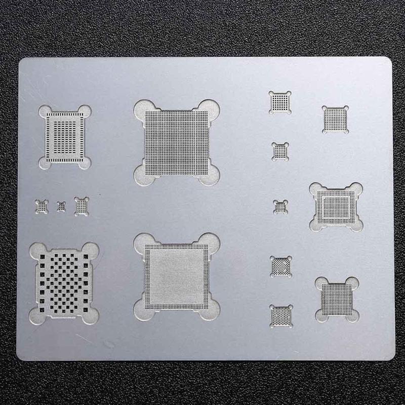 Solder Template Stencil Tin Plate Long Service Life Metal 3D IC Chip BGA Reballing Reapir Tool for iPhone 6S/7Plus 16 pcs lot bga reballing solder template stencil bga ic chipset for iphone 8 8plus 7 7plus 6 6splus 6 6s se 5s 5c 5 4s 4 ipad