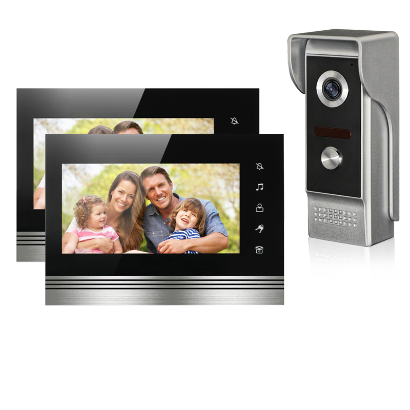 Wired Video Door Phone Intercom Doorbell System 7'' TFT-LCD Monitor Screen With IR COMS Outdoor Camera Video Door Bell On Sale