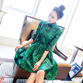 2017 New Women Fashion Vintage Chinese Traditional Style Retro Mandarin Collar Cheongsam Female Cotton Qipao Broadcloth Dress