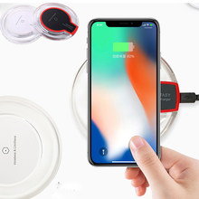 YKaiserin Wireless Charger For iPhone 8 Xiaomi Huawei Mate 20 Pro Qi Wireless Charger Ultra Thin LED Fast Charging Pad Station(China)