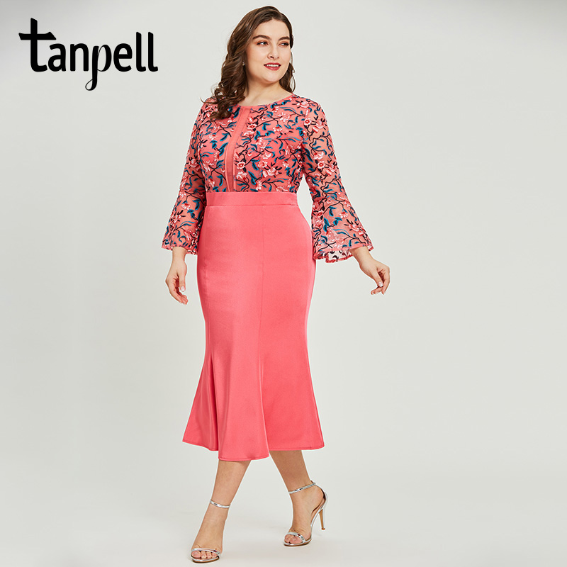 Tanpell mermaid   cocktail     dress   light plum embroidery half sleeves gown women graduation homecoming party formal   cocktail     dresses