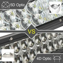 Partol 400W 42″ 5D LED Light Bar Work Light for Car ATV SUV Auto LED Bar 12V 4X4 OffRoad Driving Light Bar Combo Beam