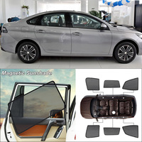 Car Side Windows Magnetic Sun Shade UV Protection Ray Blocking Mesh Visor For Peugeot 308 2016 2017 Curtain Accessories