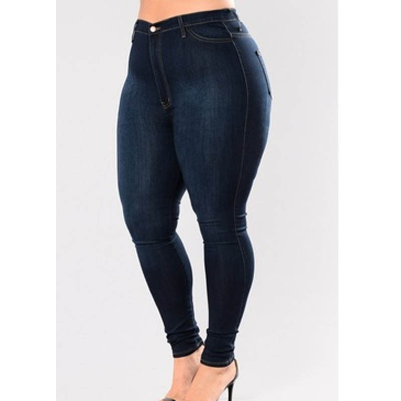 2017 Fashion Women Skinny Denim Pants Jeans High Waist Stretch Trousers Lady Women Pencil Jeans Plus Size fashion jeans femme women pencil pants high waist jeans sexy slim elastic skinny pants trousers fit lady jeans plus size denim
