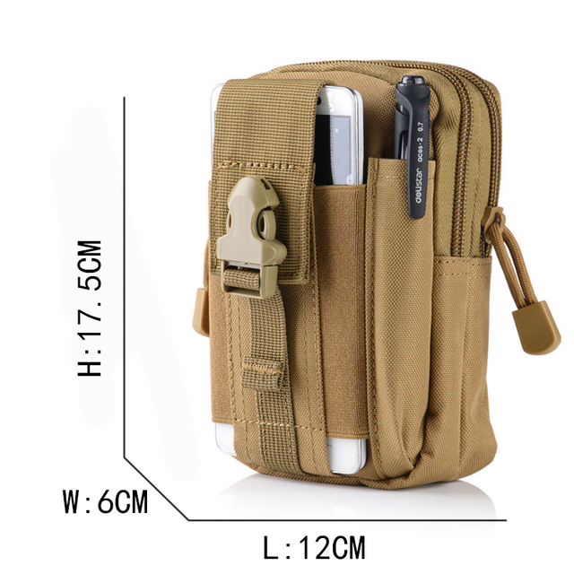 2018 Men Waist Bag Travel Bag Bum Bag Pouch Waterproof Military Belt Waist Packs Molle Nylon Mobile Phone Wallet Drop shiping 5