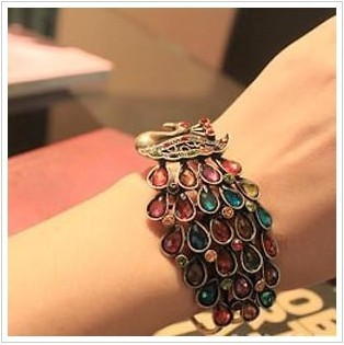 SX006  Fashion Vintage Peacock bangle bracelet Jewelry wholesales AAA!!! Free shipping!!!