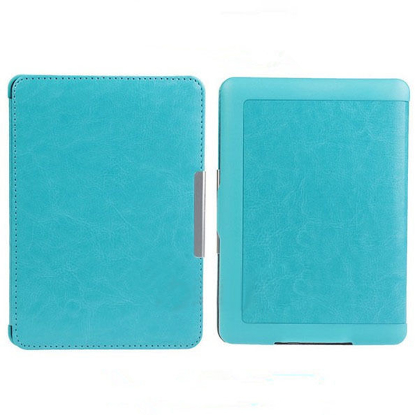 Slim Auto Sleep Wake Magnetic PU Leather Case Cover for Kindle Paperwhite 1 2 3 blue