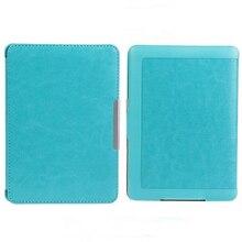Delgado auto sleep/wake magnética de cuero de la pu case cubierta para kindle paperwhite 1 2 3 azul