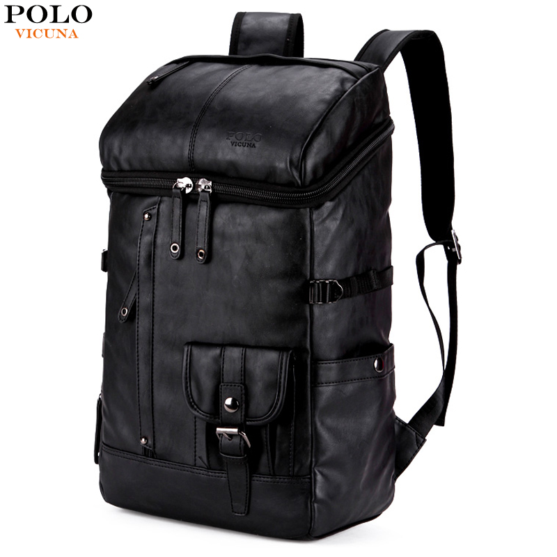 08cfd37545 VICUNA POLO High Capacity Leather Men Rucksack For Traveling Large Size Mens  Hiking Sport Travel Backpack Men s Casual Daypacks