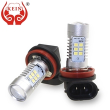 KEIN 2PCS h8 h11 led bulbs 2835 21smd Nonpolarity H8 led Fog Light HD auto Car DRL Lamp daytime running Vehicle H11 fog Lamp 12V 2pcs car led fog lamp h11 bright daytime running light auto led parking bulb driving light headlight drl source xenon lamp