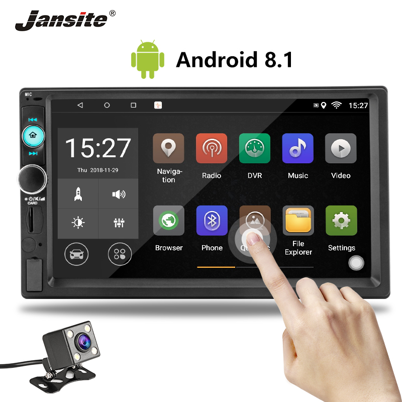 Jansite 7 2 din Car Radio DVD MP5/Android 8.1 player Digital Touch Screen Multimedia Autoradio mirror Support Rear camera