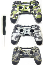PS4 ที่กำหนดเอง Camouflage Controller ฝาครอบกรณี Camo เปลี่ยนที่อยู่อาศัยด้านหน้าสำหรับ Sony Playstation 4 Gamepad Gen 1th V1