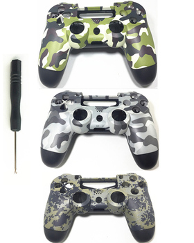 PS4 Custom Camouflage Controller Cover Cases Camo Replacement Housing Front Back Shell For Sony Playstation 4 Gamepad Gen 1th V1 front back cover replacement for symbol mc65 mc659b