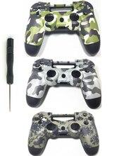 PS4 niestandardowe kamuflaż pokrywa kontrolera przypadkach Camo obudowa wymiana przód tył obudowa do Sony Playstation 4 Gamepad Gen 1th V1
