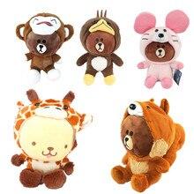 Фотография Japan Anime Line Friends Brown Bear Cony Rabbit Sally Chicken Transfiguration platypus Monkey Stuffed Pillow Plush Dolls Toy NEW