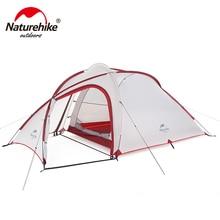 Naturehike Hiby серия семейная палатка 20D/210 T Сверхлегкая ткань для 3 человек с ковриком NH18K240-P