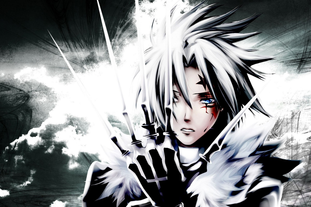 Anime d gray man allen walker art kb855 living room home wall modern art decor wood frame fabric posters prints in painting calligraphy from home garden