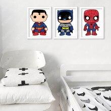 Superhero Cartoon Posters (3 Designs, 6 Sizes)