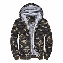 Hombre 2018 Brand Clothing Camouflage Hoodies Tracksuits Velvet Fleece Thick Camo Mens and Sweatshirts