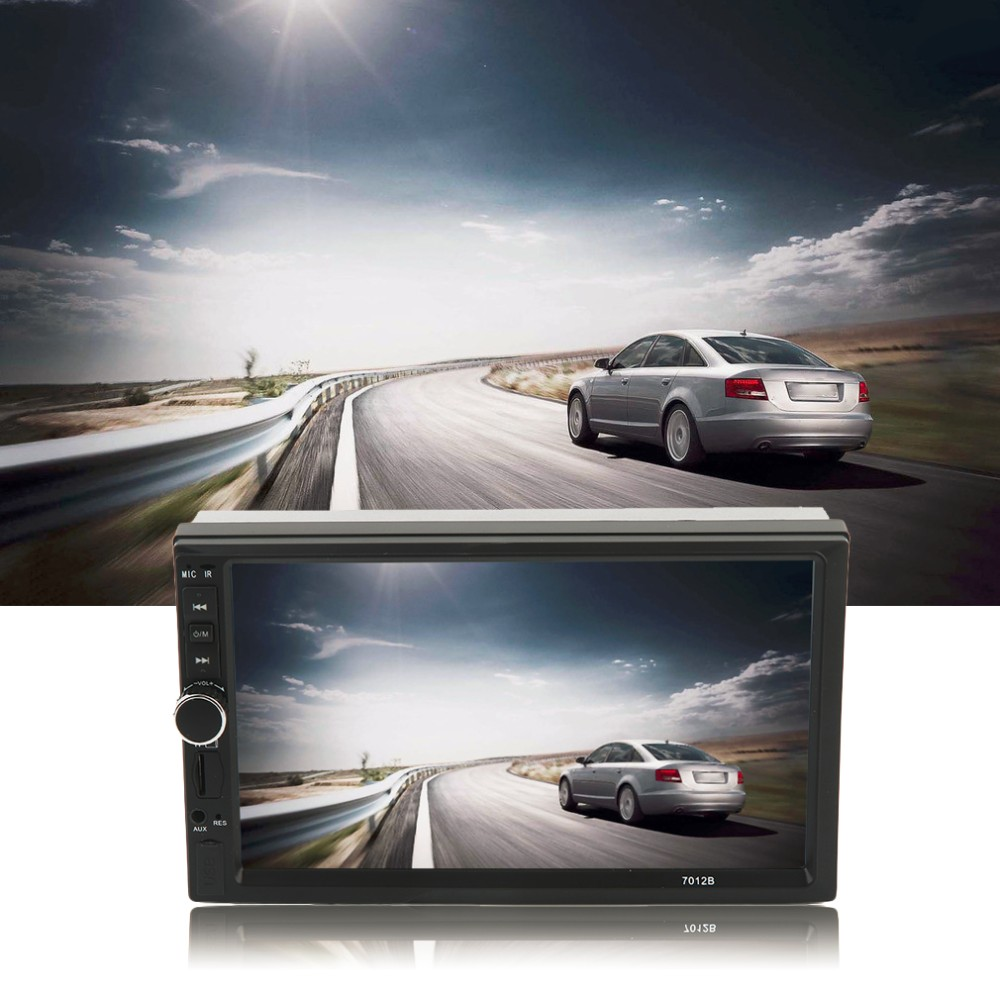 Car Vehicle 7 Inch Screen TF Card Doule Din Bluetooth DVD Player High Quality Auto Multimedia Player Audio Player Black
