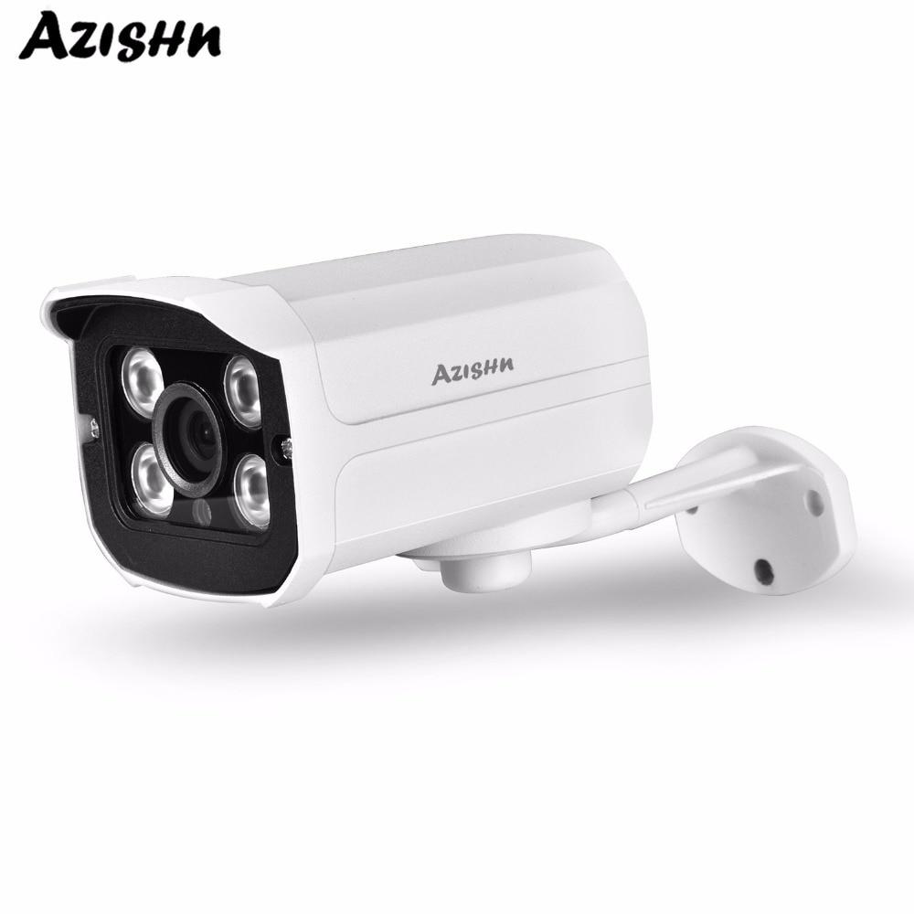 AZISHN HD 1080 P SONY IMX323 2.0MP Sensor de Caixa De Metal Onvif Visão Nocturna do IR IP Câmera de Segurança Ao Ar Livre Bala de Vigilância câmera