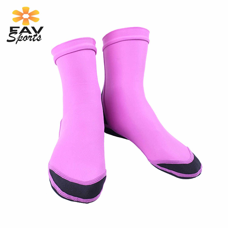 Erkekler kadınlar yüzme plaj çorap 1.5mm tüplü dalış çorapları kaymaz neopren dalış botları sualtı sörf ayakkabıları