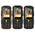 VKWorld V3 5200 mAh Espera Largo Del Teléfono Móvil A Prueba de agua de Piedra 6531CA RAM 64 MB ROM 64 MB 2.4 pulgadas Dual SIM Bluetooth