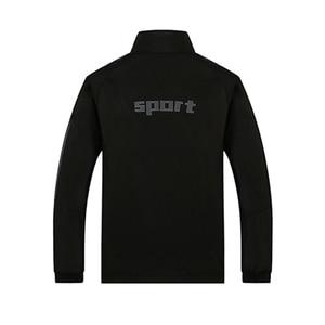 Image 2 - Nowych mężczyzna zestaw wiosna jesień mężczyźni odzież sportowa 2 częściowy zestaw Sporting garnitur kurtka + spodnie Sweatsuit mężczyzna odzież dres rozmiar L 5XL