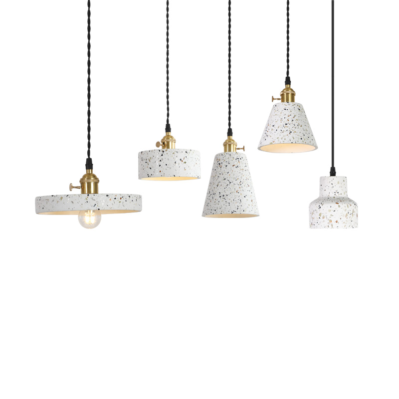 Nordic cement chandelier vintage industrial style restaurant lamp creative personality bar bedroom nightstand DIY light|Pendant Lights| |  - title=