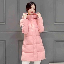 #2602 Slim jaqueta feminina inverno 2016 Womens winter jackets and coats Fashion Thick Long casacos de inverno feminino